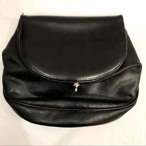 Vintage Bottega Veneta black leather pouch